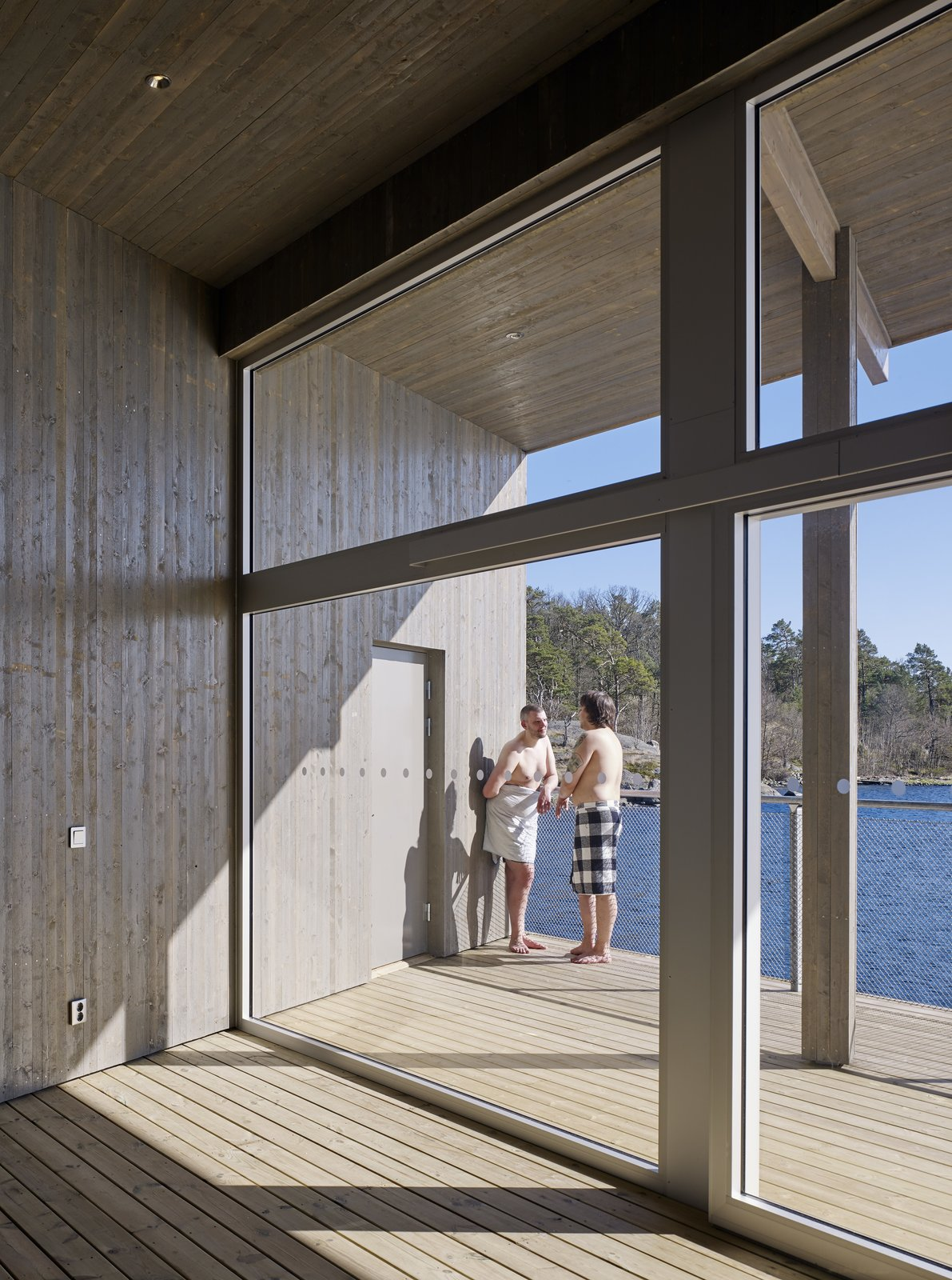 Photo 4 of 6 in A Swedish Coastal Town Commissions an Otherworldly Bathhouse