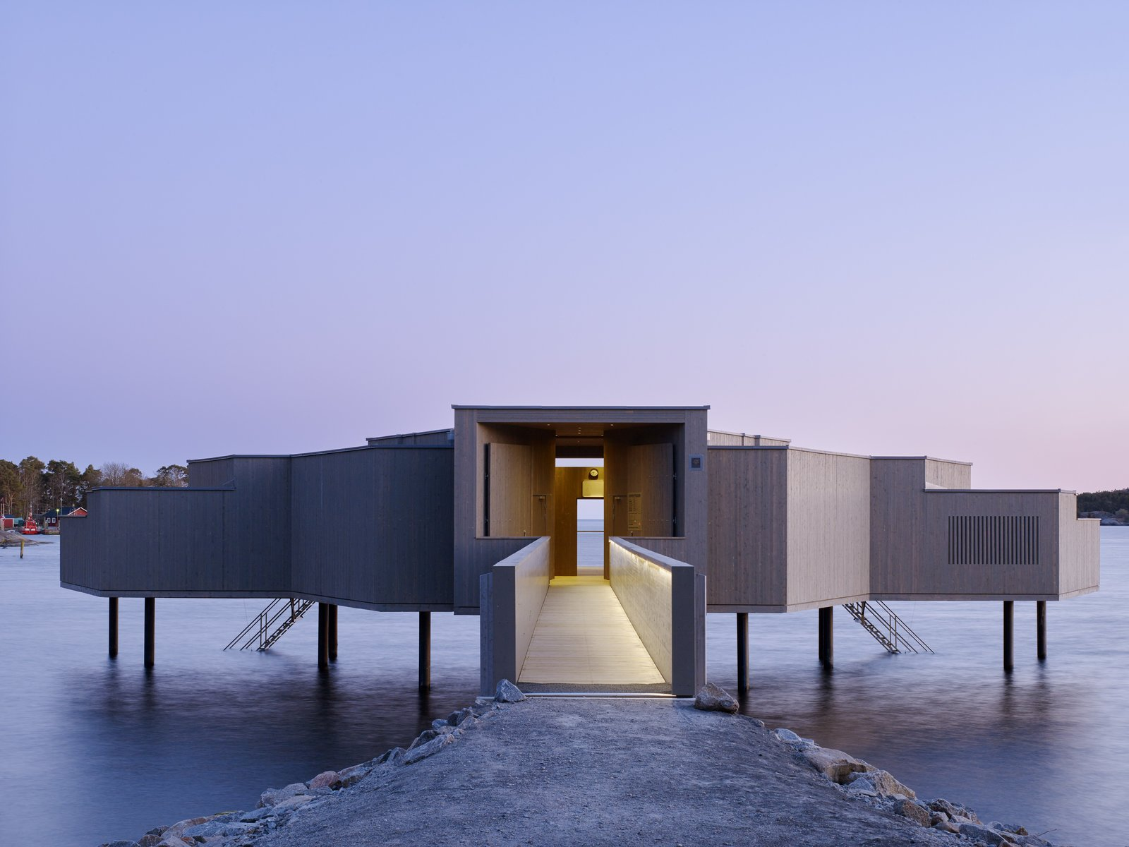 Photo 1 of 6 in A Swedish Coastal Town Commissions an Otherworldly Bathhouse