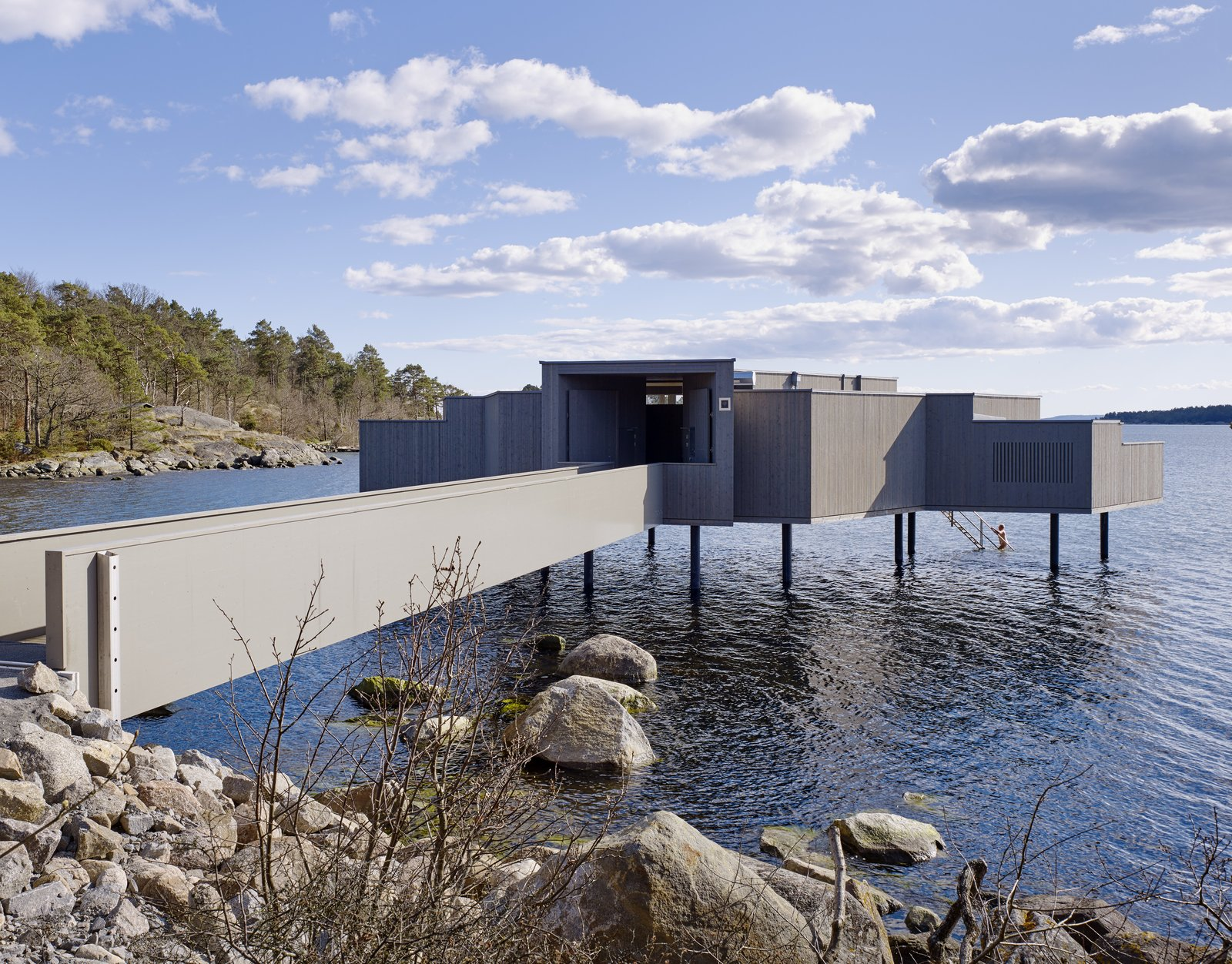 Photo 6 of 6 in A Swedish Coastal Town Commissions an Otherworldly Bathhouse