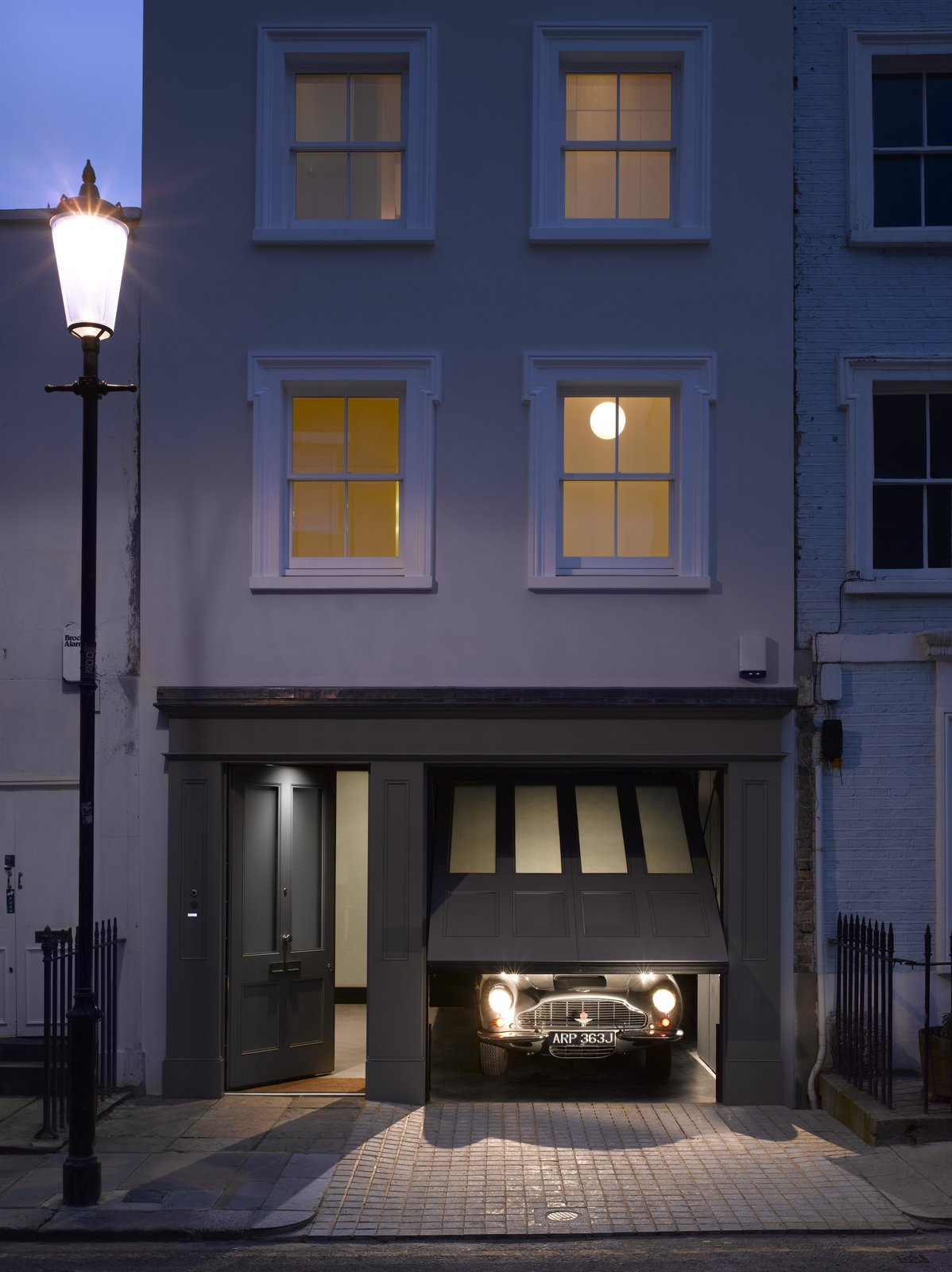 Tagged: Garage and Attached Garage.  Photo 2 of 12 in A Stunning Townhouse For Sale in a Historic London Neighborhood