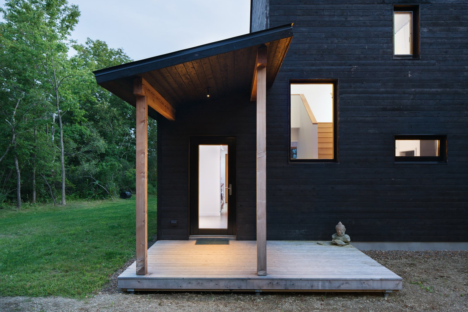 Tagged: Exterior, Prefab Building Type, and Wood Siding Material.  Photo 5 of 10 in GO Home Takes the Passive House Approach to Prefab
