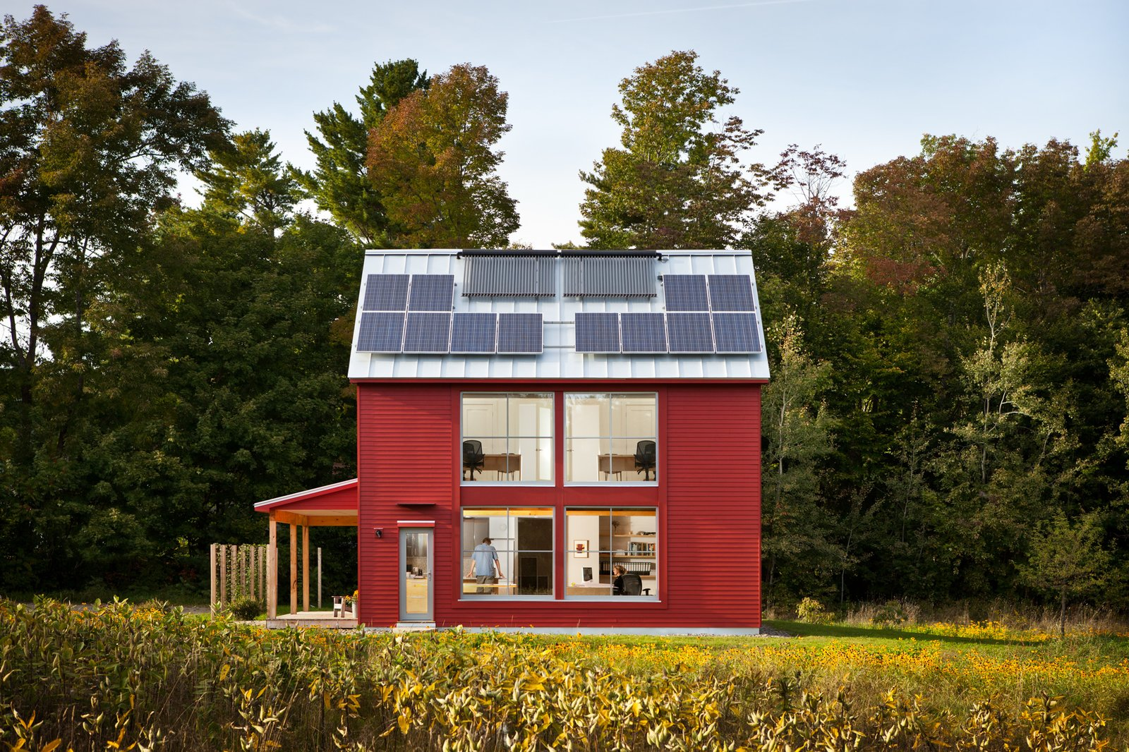 Tagged: Exterior, Green Roof Material, Prefab Building Type, and Wood Siding Material.  Photo 1 of 10 in GO Home Takes the Passive House Approach to Prefab