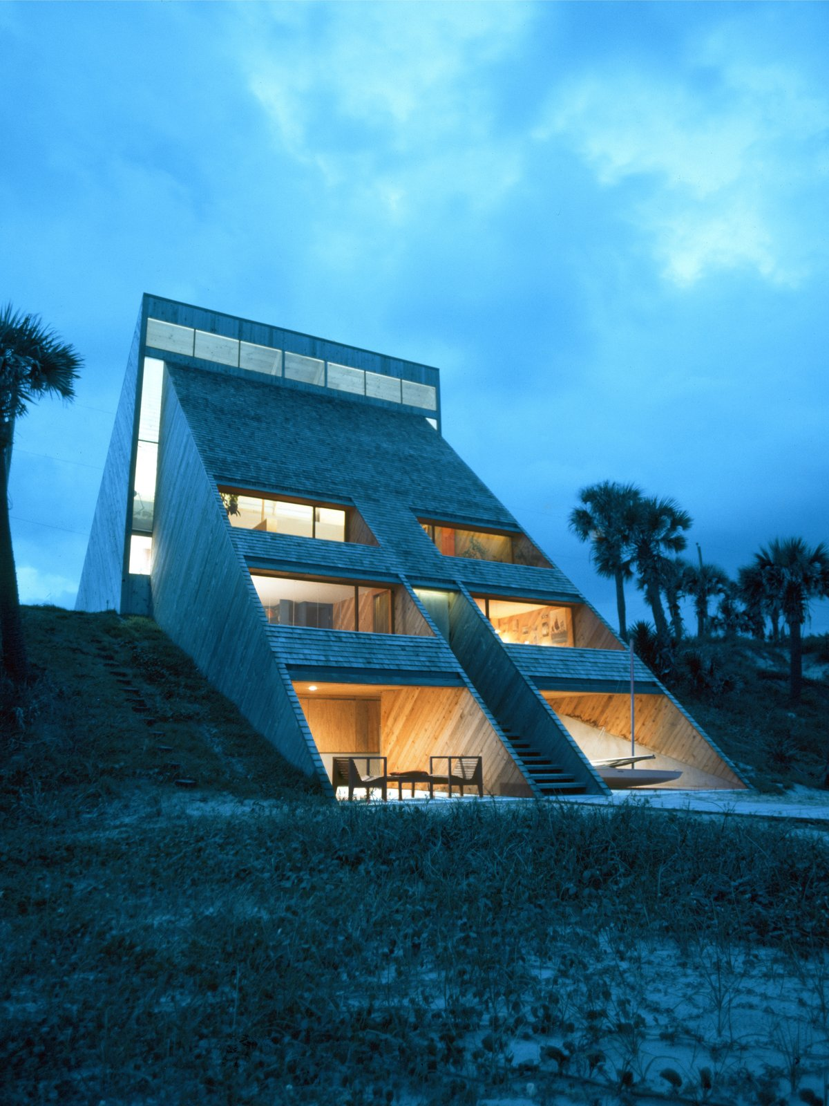 Tagged: Outdoor and Back Yard.  Photo 2 of 13 in A Renowned Florida Architect's Geometric Family Home Hits the Market For the First Time