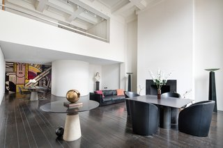 Legendary Designers Massimo and Lella Vignelli's New York Duplex Is Listed at $6.5M - Photo 1 of 8 - Almost all of the furniture and decorative items in the apartment were designed by the couple.