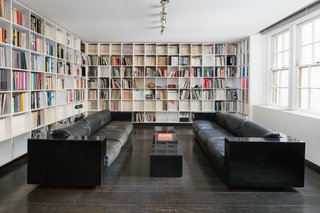 Legendary Designers Massimo and Lella Vignelli's New York Duplex Is Listed at $6.5M - Photo 4 of 8 - A dining room that was converted to a library