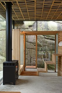 This Norwegian Cabin's Roof Doubles as an Observation Deck - Photo 3 of 7 - Oak steps lead to the loft bed.
