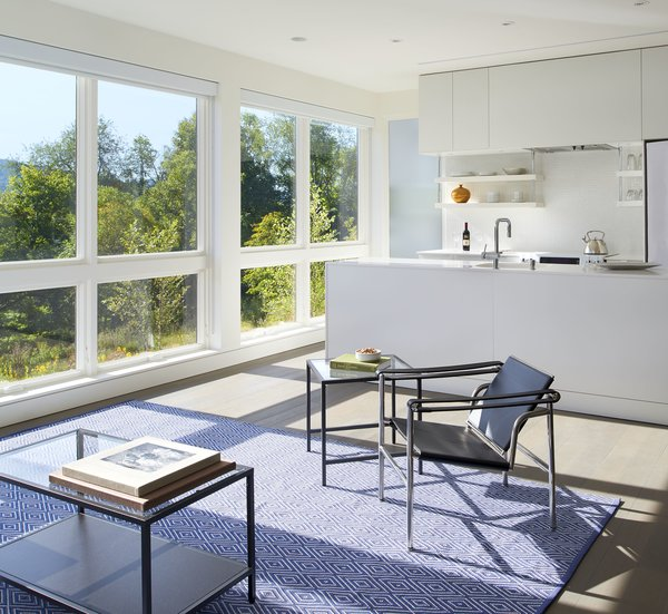 """In the ground floor apartment, """"there are picture windows with operable awning [windows] below, which provide the cross ventilation,"""" said Wiedemann."""