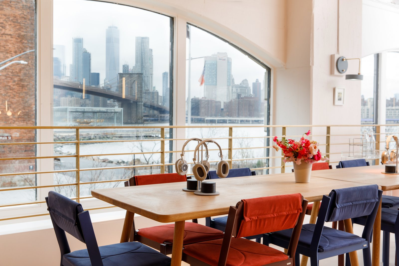 The space has stunning views of the Manhattan skyline. Tagged: Office, Light Hardwood, Chair, Desk, and Study.  Best Office Photos from A Peek Inside Brooklyn's Latest Co-Working Space Dedicated to Women