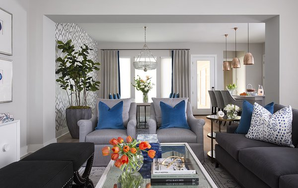 Serene, welcoming living area with refreshing and relaxing colors. Photo 2 of Austin Urban Townhome modern home