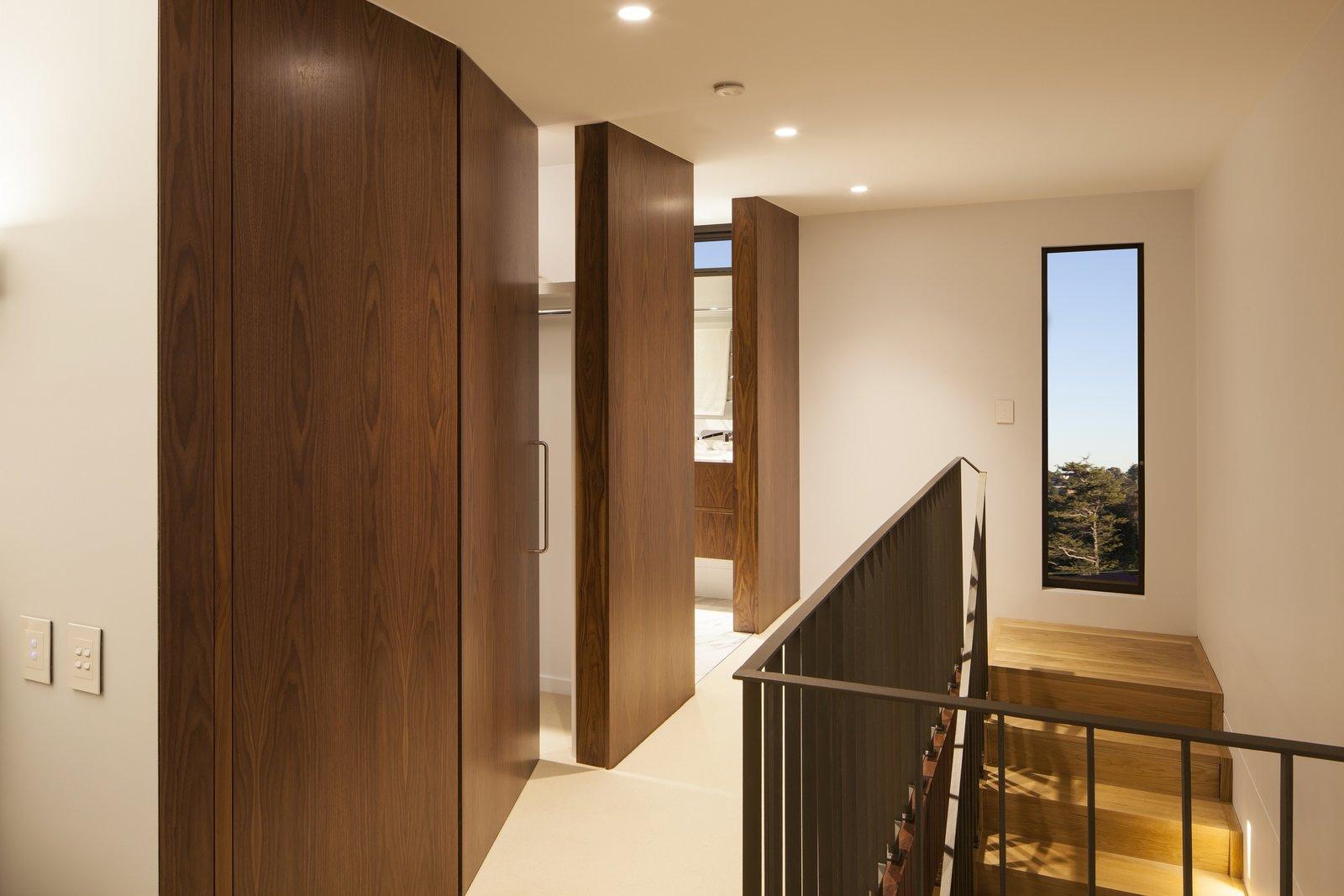 Concealed doors in hallway to Master Bedroom  Castlecrag House by Gerard Page