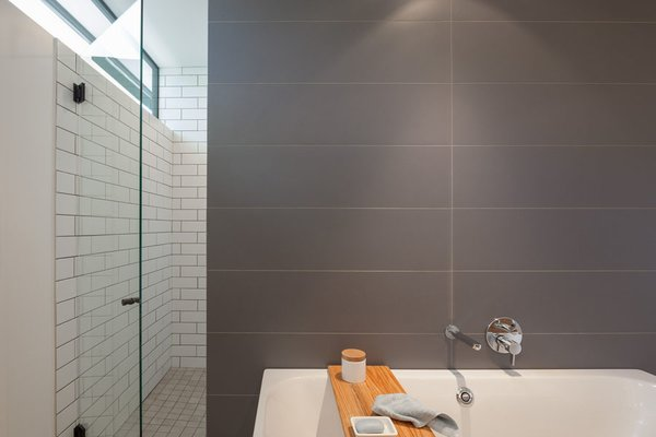 Modern home with bath room and freestanding tub. Master Bathroom Photo 9 of Pavilion Haus