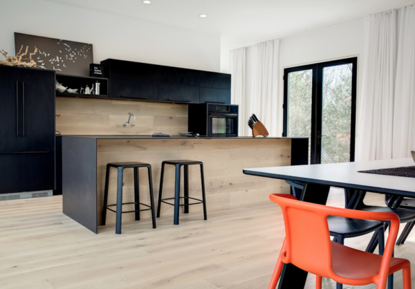Galley Kitchen and Dining Room Photo 7 of The Raven Home modern home