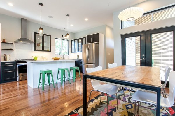 Dining and Kitchen area Photo 9 of Modernist Spec House modern home