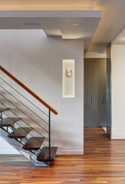 Modern home with living room. Open Tread Staircase Photo 2 of Upper West Side Duplex, New York
