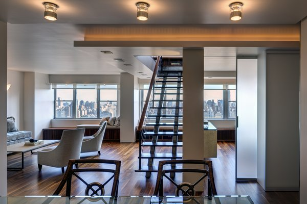 Modern home with staircase. Open Living Area Photo 3 of Upper West Side Duplex, New York