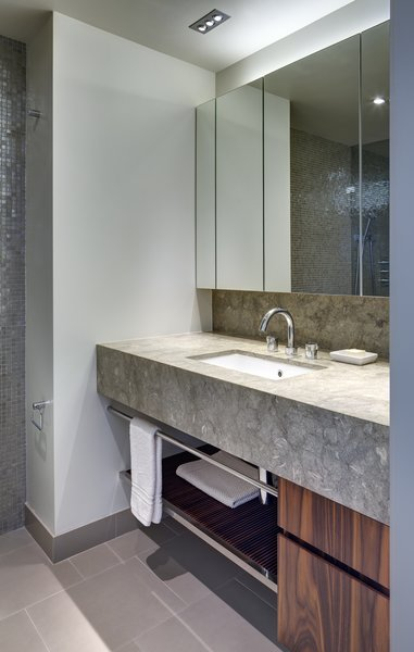 Modern home with bath room. Powder Room Photo 5 of Upper West Side Duplex, New York