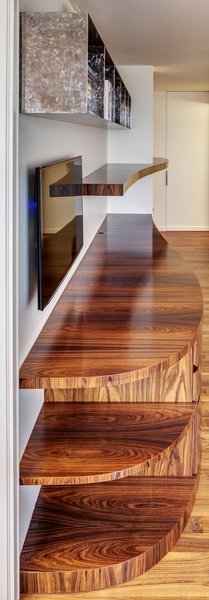 Modern home with study, medium hardwood floor, and office. Home Study - Millwork Detail Photo 7 of Upper West Side Duplex, New York