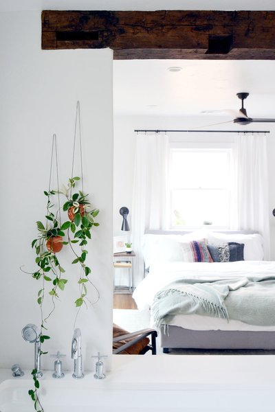 Handmade hanging planters from The Crafter's Box artist Emily Reinhardt. Photo 5 of Spenla Master Bed & Bath Open Space Concept modern home