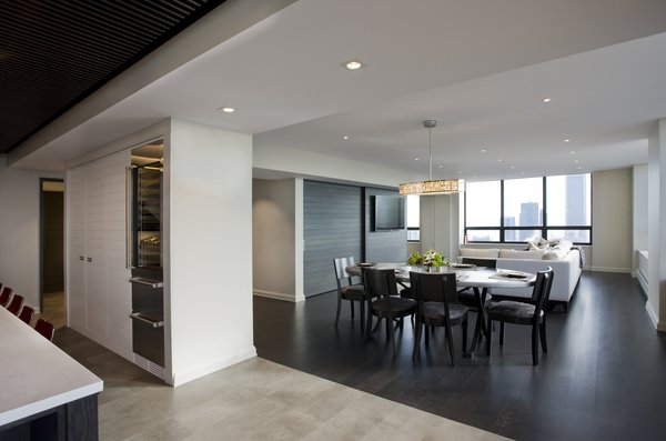 looking from kitchen into dining + living Photo 6 of Streeterville Residence modern home