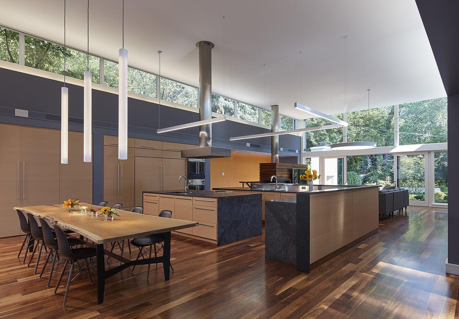 kitchen + dining  Courtyard Residence by Kuklinski + Rappe Architects