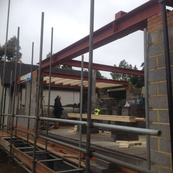 steel beams Photo 19 of FOlly Hill modern home
