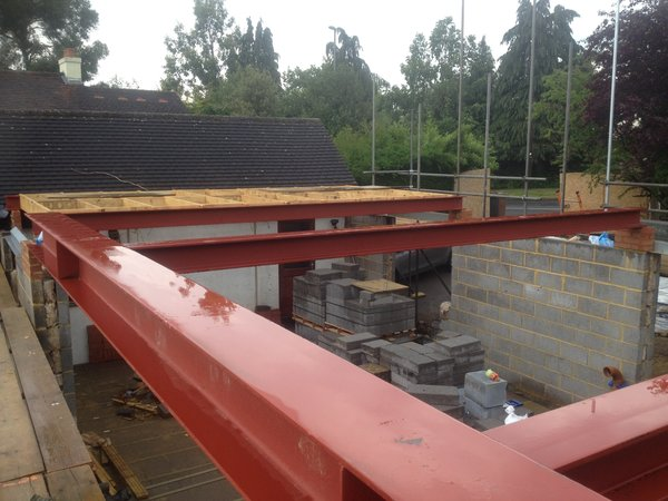 steel beams Photo 20 of FOlly Hill modern home