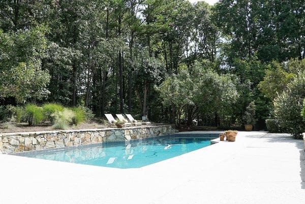 Pool Area from House Photo 12 of Bailey/Friedlander House-Robert Greene Designed modern home