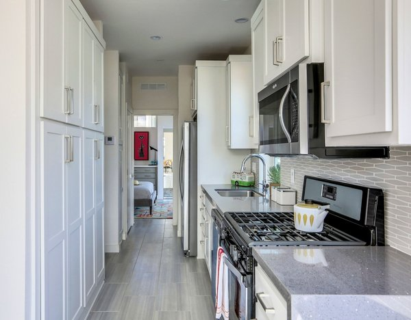 Kitchen with Pantry - full sized appliances -  Palm Canyon Mobile Club Photo 9 of Tiny Homes in Palm Springs modern home