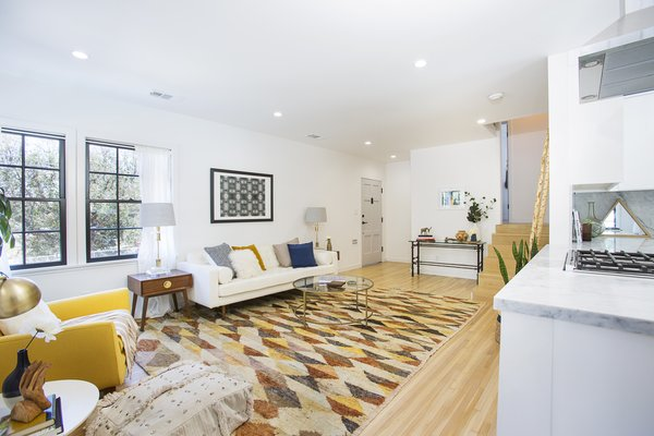 Modern home with living room, end tables, recessed lighting, sofa, and ceiling lighting. Photo 2 of Silverlake on Riverside Terrace
