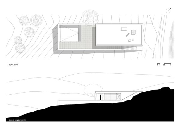 Plan Roof and Rising Sun Elevation Photo 9 of House in Pedrogão modern home