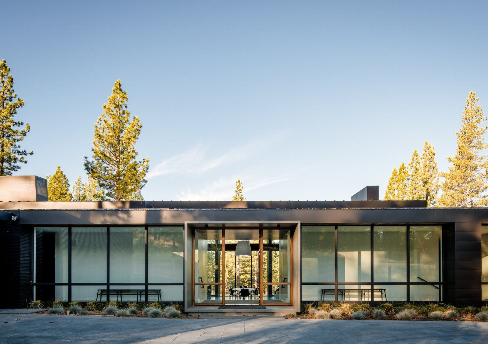 Entry Tagged: Outdoor, Front Yard, Metal Patio, Porch, Deck, Concrete Pools, Tubs, Shower, Pavers Patio, Porch, Deck, and Concrete Patio, Porch, Deck.  Martis Camp Residence 1 by John Maniscalco Architecture