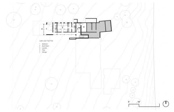 Basement Floor Plan Photo 15 of Martis Camp Residence 1 modern home