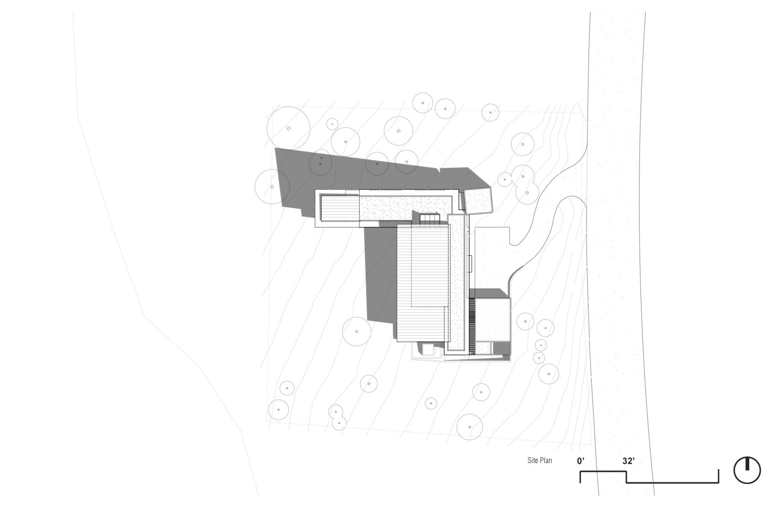 Site Plan  Martis Camp Residence 1 by John Maniscalco Architecture