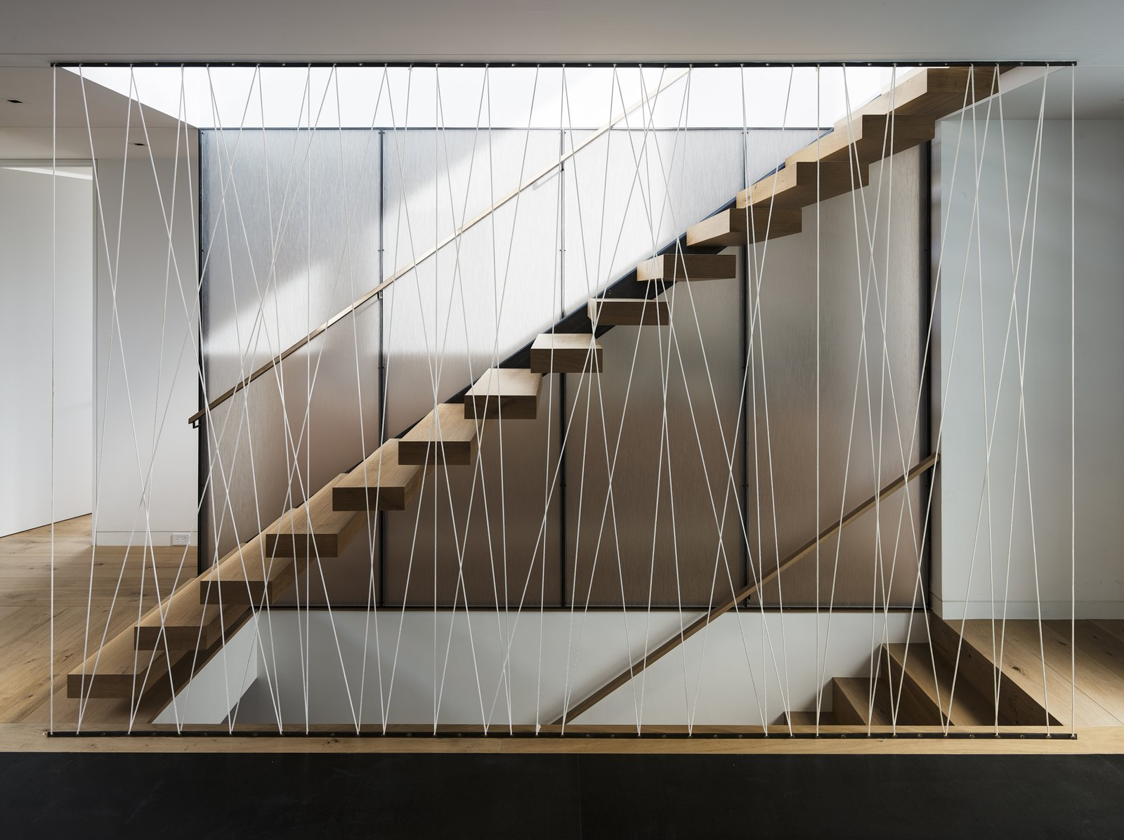 Tagged: Wood Tread, Cable Railing, and Staircase.  Spruce by John Maniscalco Architecture