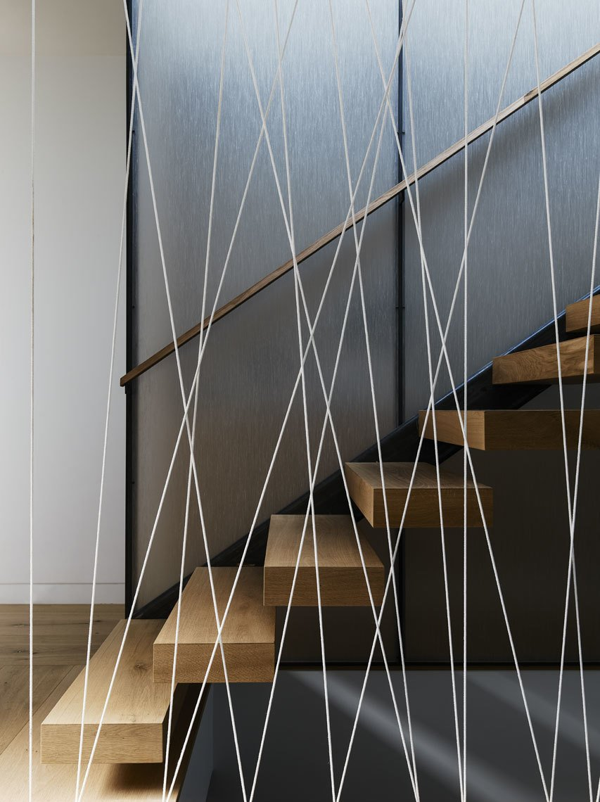 Tagged: Staircase, Wood Tread, and Cable Railing.  Spruce by John Maniscalco Architecture