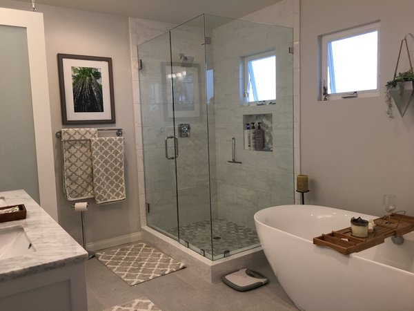 Modern home with freestanding tub and bath room. Photo 2 of Capistrano Beach Master Bathroom Remodel