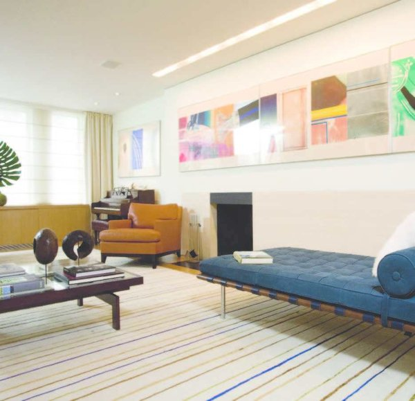 Modern home with living room. Living room Photo  of Private Residence