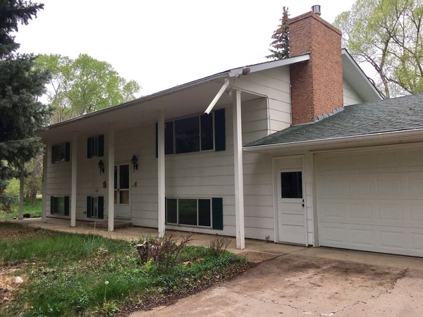Modern home with outdoor. Front of home - sits mid lot.  Photo  of CECE Farm