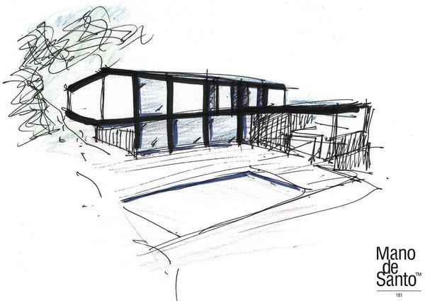 concept sketch Photo 13 of Casa El Bosque modern home