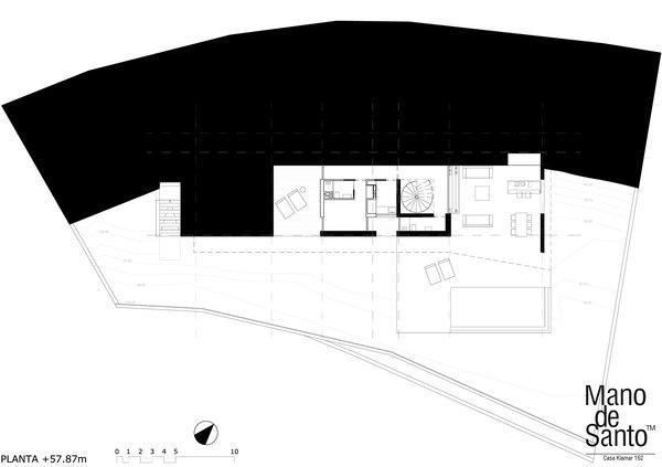 FIRST FLOOR PLAN Photo 6 of Casa Klamar modern home