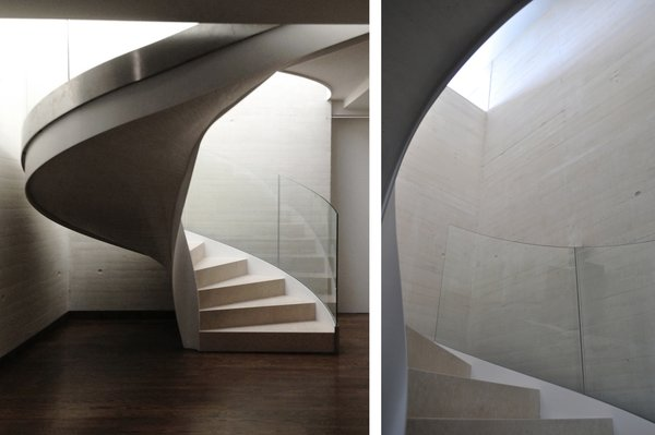 Modern home with staircase. SPIRAL STAIRCASE Photo 8 of Casa Klamar