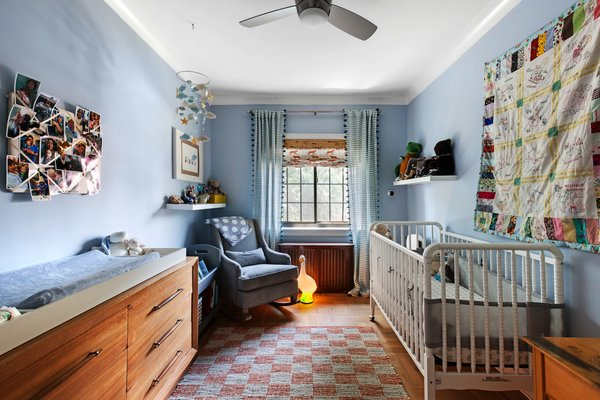 Modern home with kids room, toddler age, bedroom, boy gender, and neutral gender. Photo  of Designer's Tudor Townhouse (SWEETEN project, designed by Meredith Lorenzen)