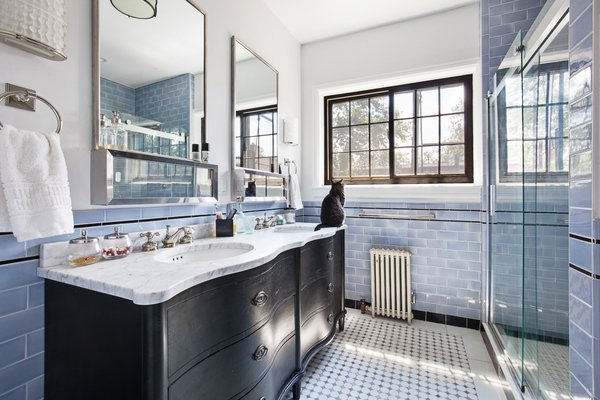 Modern home with bath room. Photo 8 of Designer's Tudor Townhouse (SWEETEN project, designed by Meredith Lorenzen)