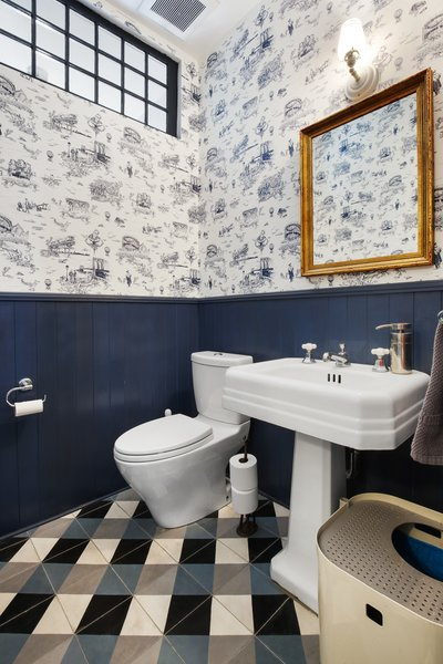 Modern home with bath room. Photo 19 of Designer's Tudor Townhouse (SWEETEN project, designed by Meredith Lorenzen)