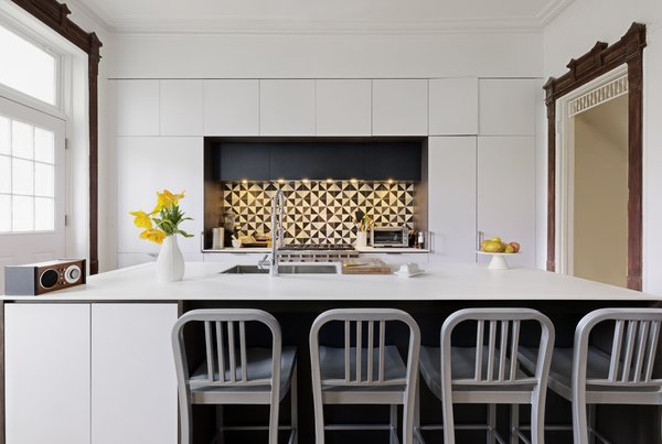 Modern home with kitchen and white cabinet. Photo 2 of Creative Townhouse kitchen and bath (Sweeten project)