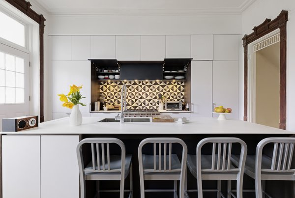 Modern home with kitchen and white cabinet. Photo 3 of Creative Townhouse kitchen and bath (Sweeten project)