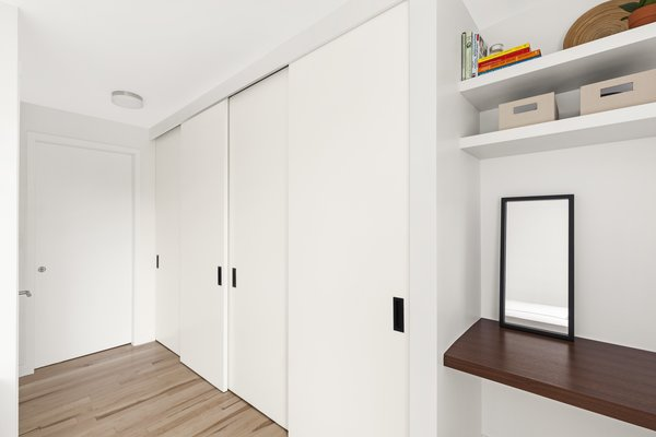 Modern home with bedroom. Photo 10 of AFTER A CLOSE CALL, A DREAM APARTMENT COMES TRUE (Sweeten Project)