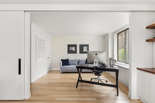 Modern home with office. Photo 13 of AFTER A CLOSE CALL, A DREAM APARTMENT COMES TRUE (Sweeten Project)