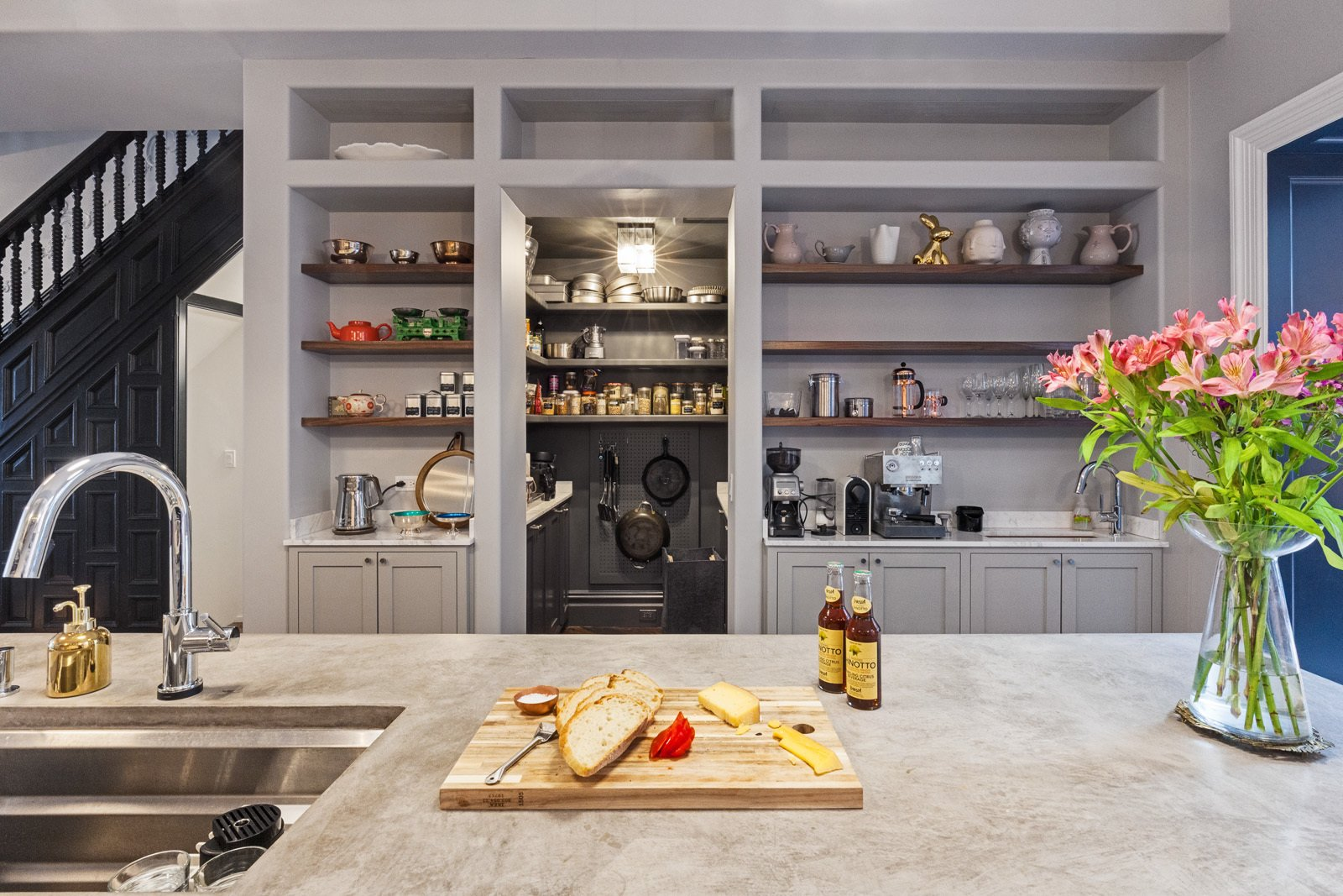 Tagged: Kitchen.  A LONG TOWNHOUSE SETS THE RIGHT FLOW FOR MODERN LIVING (PART 2, SWEETEN project) by Photo by Pixy