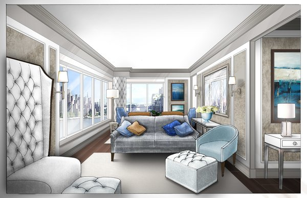 Modern home with living room. Upper East Side Private Residence Photo 2 of Private Residence - Upper East Side, NYC